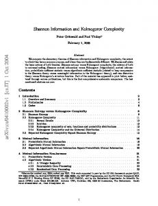 Shannon Information and Kolmogorov Complexity