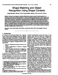Shape matching and object recognition using shape contexts ...