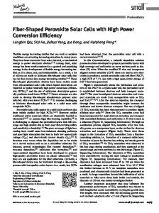 Shaped Perovskite Solar Cells with High Power Conversion Efficiency