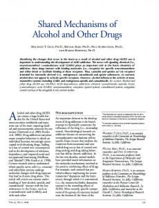 Shared Mechanisms of Alcohol and Other Drugs - National Institute on