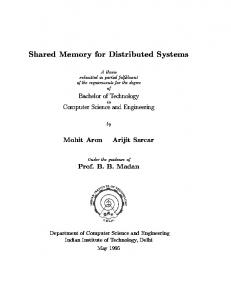Shared Memory for Distributed Systems - CiteSeerX