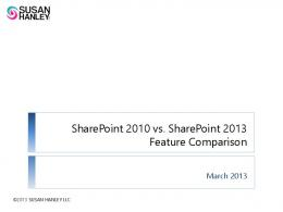 SharePoint 2010 vs. SharePoint 2013 Feature Comparison