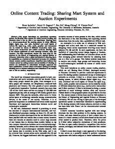 Sharing Mart System and Auction Experiments - Princeton University