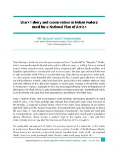 Shark fishery and conservation in Indian waters - Eprints@CMFRI