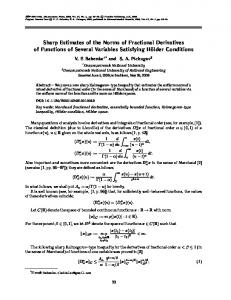 Sharp Estimates of the Norms of Fractional