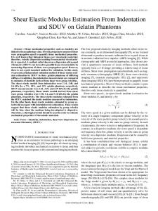 Shear Elastic Modulus Estimation From ... - Semantic Scholar