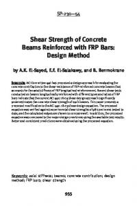 Shear Strength of Concrete Beams Reinforced