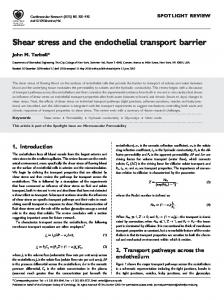 Shear stress and the endothelial transport barrier