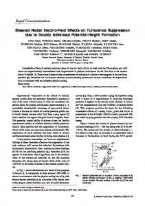 Sheared Radial Electric-Field Effects on Turbulence Suppression due ...