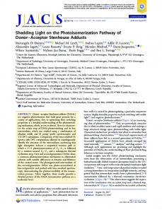 Shedding Light on the Photoisomerization ... - ACS Publications