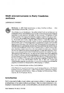 Shell microstructures in Early Cambrian molluscs - Acta ...
