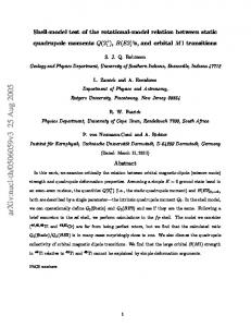 Shell-model test of the rotational-model relation between static ...
