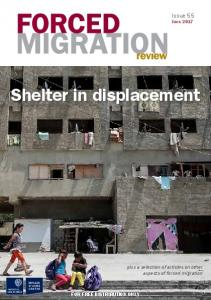 Shelter in displacement - Forced Migration Review