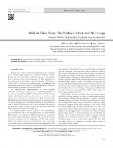 Shift in Time Zone: The Biologic Clock and Neurology - JournalAgent