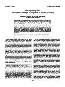 Shifting Perceptions: Developmental Changes in Judgments of ...