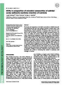 Shifts in composition of microbial communities ... - Wiley Online Library