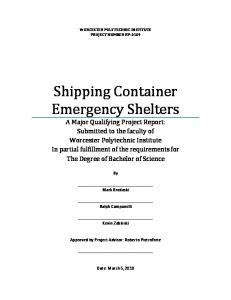 Shipping Container Emergency Shelters - Worcester Polytechnic ...