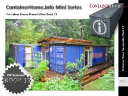 Shipping Container Homes - Book 15