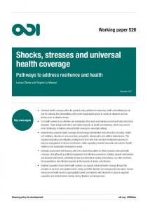 Shocks, stresses and universal health coverage - odi.org