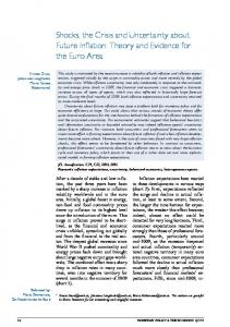 Shocks, the Crisis and Uncertainty about Future Inflation ... - OeNB