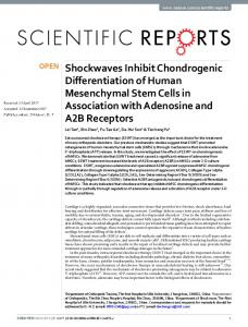 Shockwaves Inhibit Chondrogenic Differentiation of Human ... - Nature