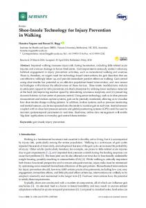 Shoe-Insole Technology for Injury Prevention in Walking - MDPI