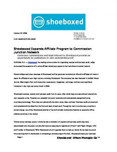 Shoeboxed Expands Affiliate Program to Commission Junction ...