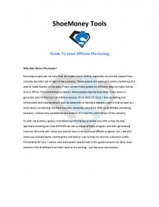 Shoemoney's Local Affiliate Marketing Guide