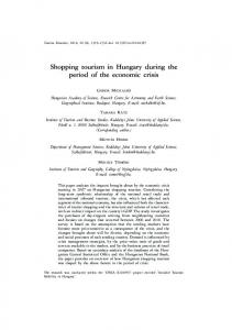 Shopping tourism in Hungary during the period of the