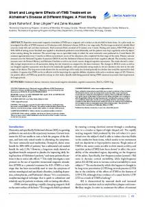 Short and Long-term Effects of rTMS Treatment on ... - SAGE Journals