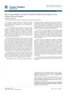 Short Commentary on Current Trends in Medicinal Chemistry of the ...