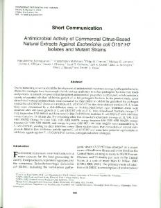 Short Communication Antimicrobial Activity of ... - PubAg - USDA