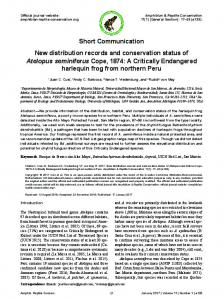 Short Communication New distribution records and conservation ...