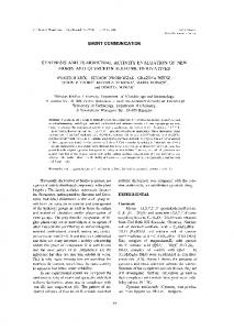 short communication synthesis and tumoricidal activity evaluation of new