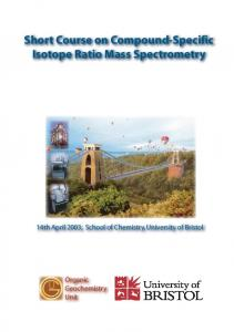 Short Course on Compound-Specific Isotope Ratio Mass Spectrometry