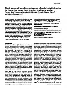 Short-term and long-term outcomes of serial robotic ...