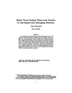 Short Term Capital Flows and Growth in Developed and Emerging ...