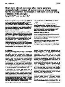 Short-term clinical outcomes after hybrid coronary