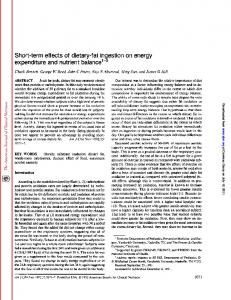 Short-term effects of dietary-fat ingestion on energy ...