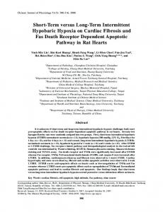 Short-Term versus Long-Term Intermittent Hypobaric Hypoxia on ...