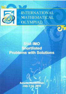 Shortlisted Problems and Solutions