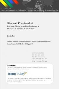 Shot and Counter-shot - Journal of French and Francophone Philosophy