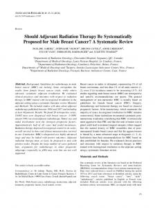 Should Adjuvant Radiation Therapy Be Systematically ...