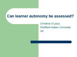 Should learner autonomy be assessed?