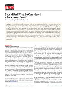 Should Red Wine Be Considered a Functional ... - Wiley Online Library