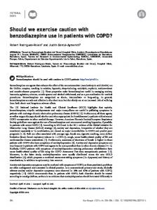 Should we exercise caution with benzodiazepine use in ... - PRBB