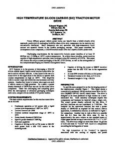 (SiC) TRACTION MOTOR DRIVE - Defense Technical Information ...