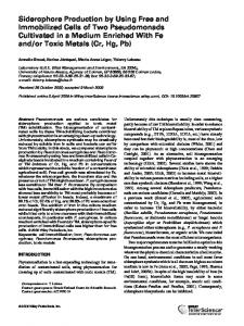 Siderophore production by using free and ... - Wiley Online Library