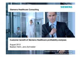 Siemens Healthcare Consulting Siemens Healthcare Consulting