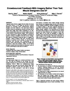 SIGCHI Conference Paper Format - Mathematical and Computer ...